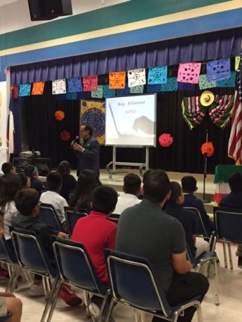 Author visit at Maria Moreno Elementary School in Dallas